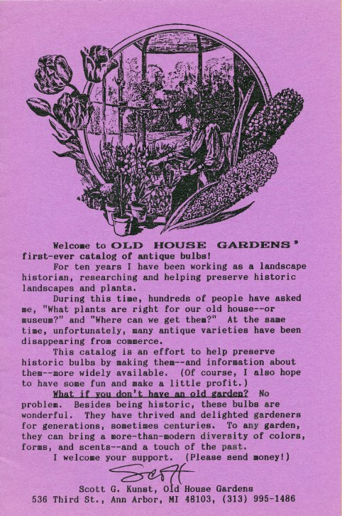 20 Years of OHG Catalog Covers and History Online –  www.OldHouseGardens.com