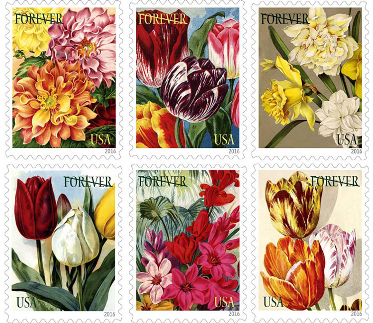 New Stamps Feature Heirloom Flowers – www.OldHouseGardens.com