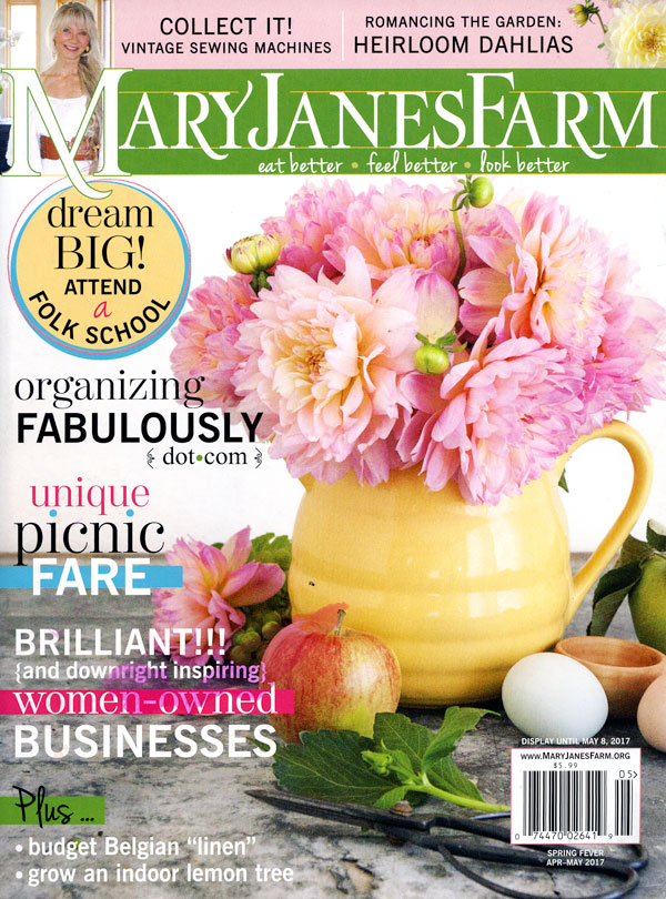 Our Dahlias Grace the Cover of <i>MaryJanesFarm</i> – www.OldHouseGardens.com